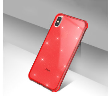 ShieldCase Glitter Shock case iPhone X / Xs (rood)