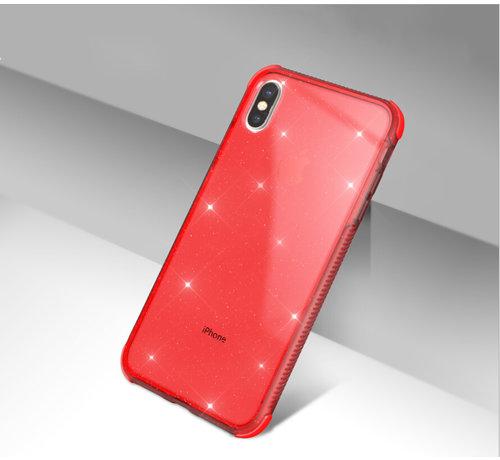 ShieldCase® Glitter Shock case iPhone X / Xs (rood)