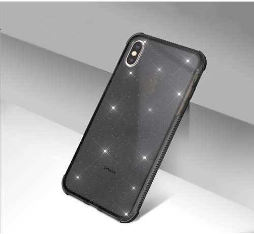 ShieldCase Glitter Shock case iPhone X / Xs (zwart)