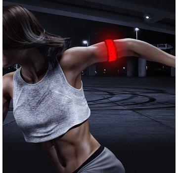 ShieldCase Reflecterende rode LED-strip armband met patronen