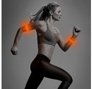 ShieldCase® Reflecterende oranje LED-strip armband met patronen