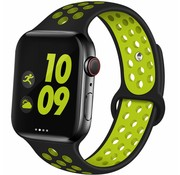 Apple Watch sport+ band (zwart/geel)