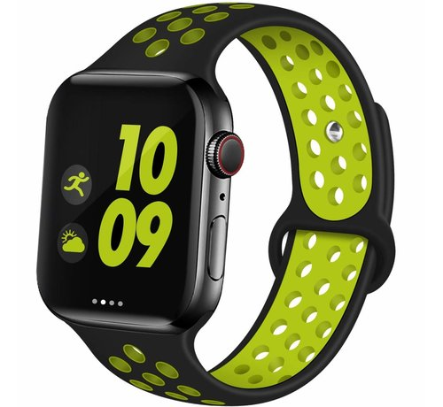 ShieldCase Apple Watch silicone sport+ band (zwart/geel)