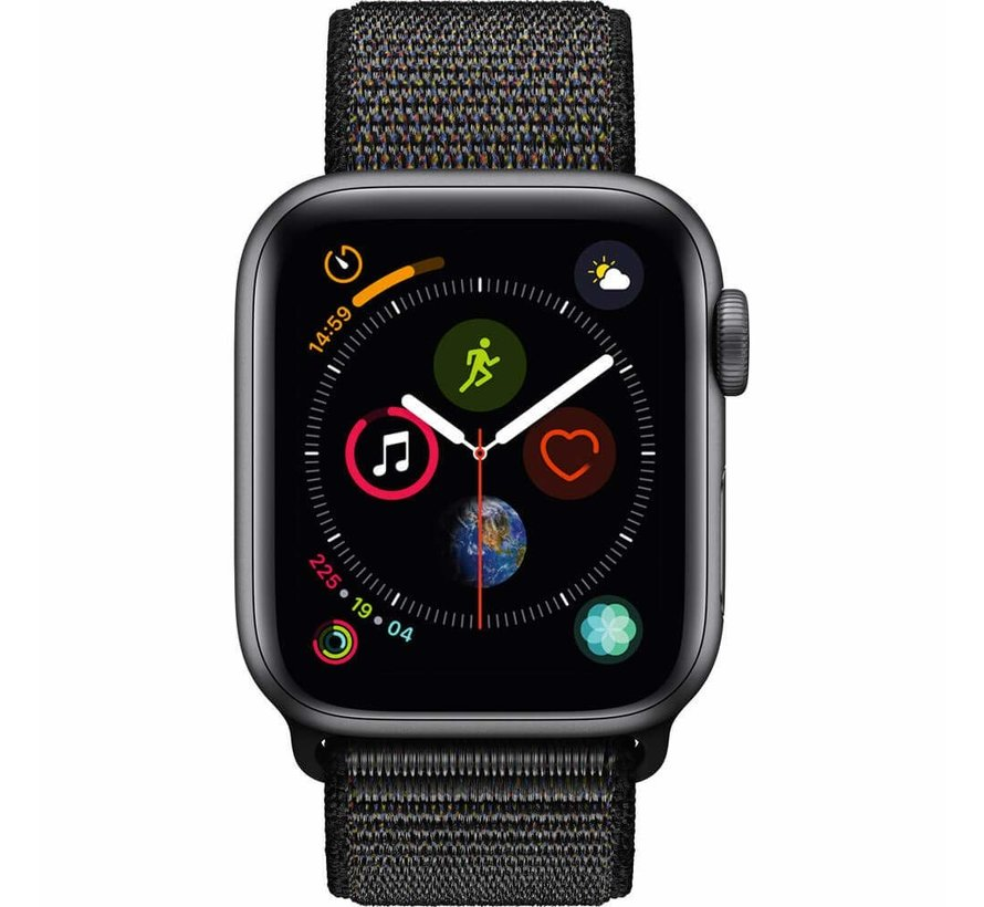 Apple Watch nylon loop band (zwart)