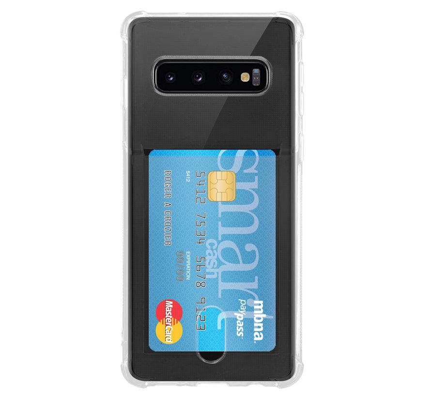 ShieldCase Samsung Galaxy S10 Shock case met pashouder