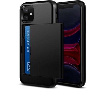 ShieldCase ShieldCase Kaarthouder case met slide iPhone 11 (zwart)