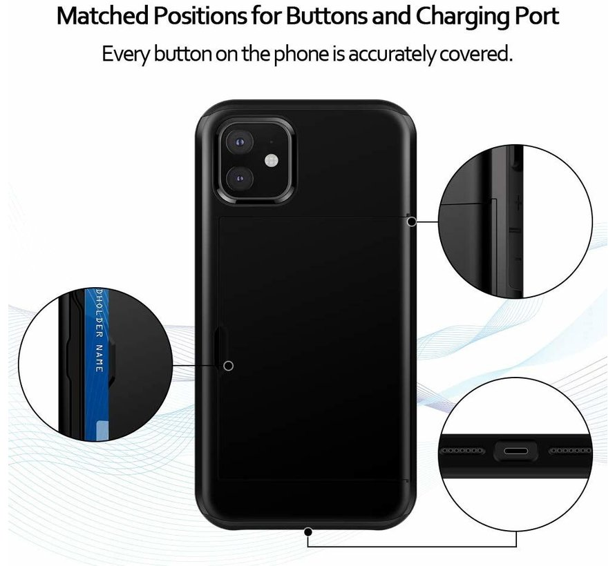 ShieldCase Kaarthouder case met slide iPhone 11 (zwart)
