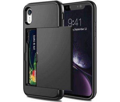 ShieldCase Shieldcase Kaarthouder case met slide iPhone Xr (zwart)