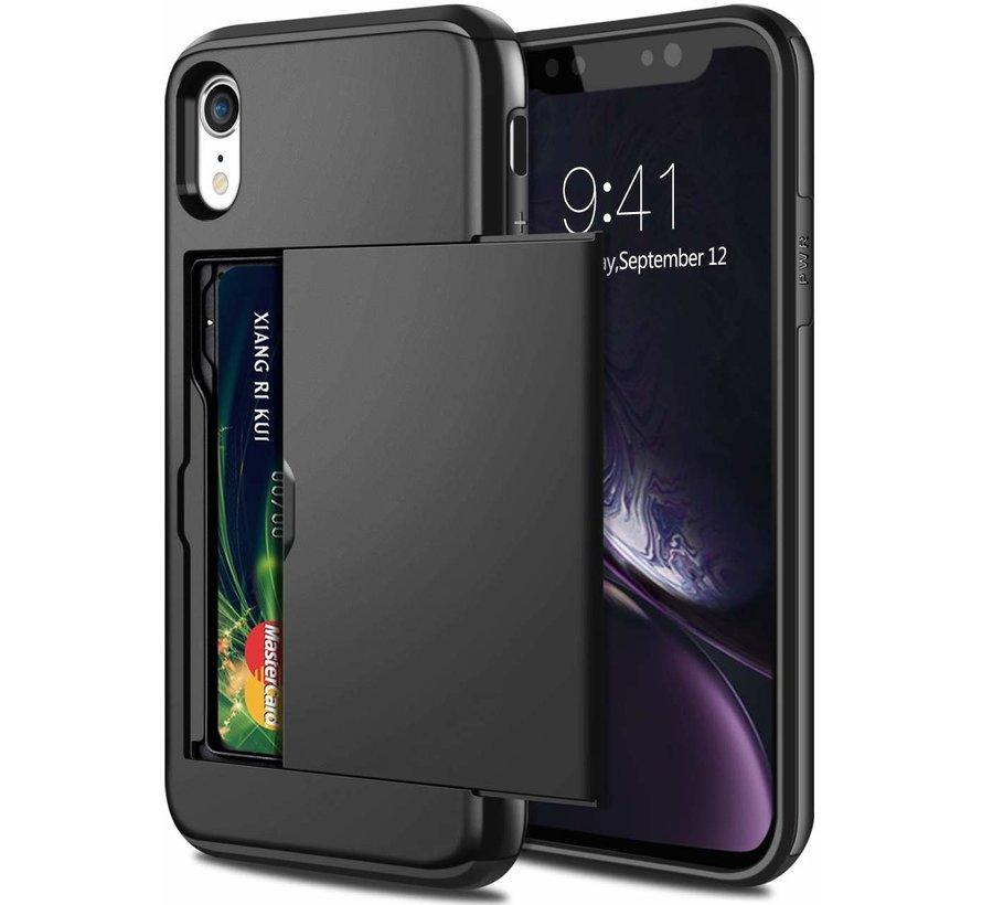 Shieldcase Kaarthouder case met slide iPhone Xr (zwart)