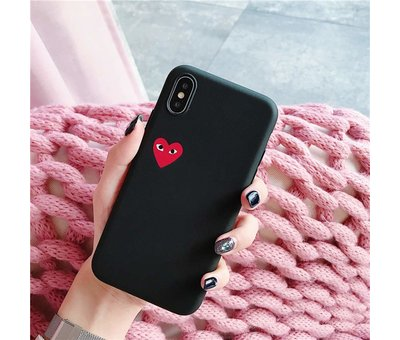 ShieldCase® ShieldCase Heart Eyes iPhone X / Xs hoesje (zwart)