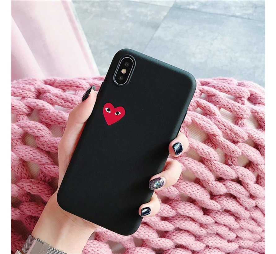 ShieldCase Heart Eyes iPhone X / Xs hoesje (zwart)
