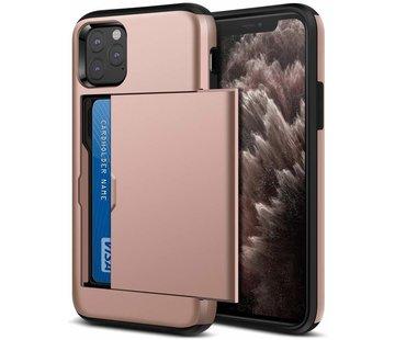 ShieldCase Kaarthouder case met slide iPhone 11 Pro (roze)
