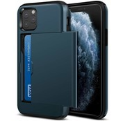 ShieldCase® Kaarthouder case met slide iPhone 11 Pro (donkerblauw)