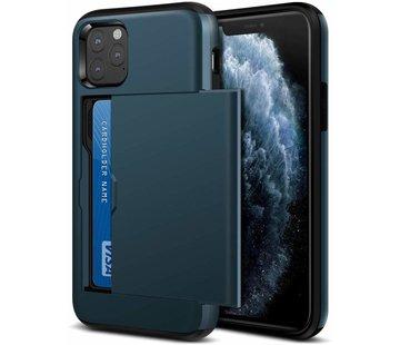 ShieldCase Kaarthouder case met slide iPhone 11 Pro (donkderblauw)