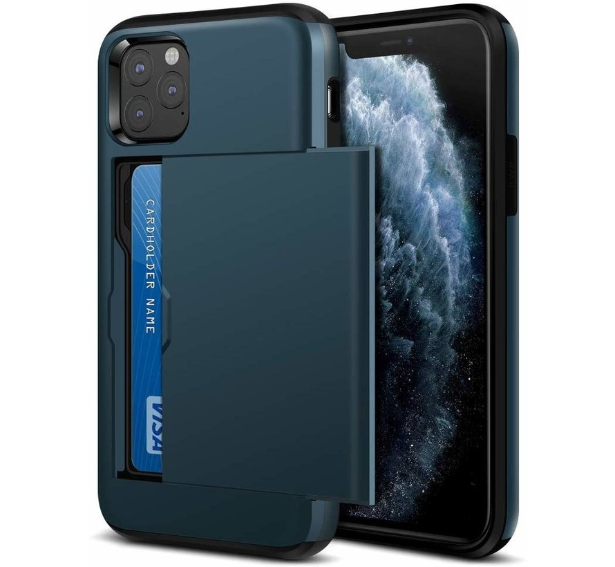 ShieldCase Kaarthouder case met slide iPhone 11 Pro (donkerblauw)