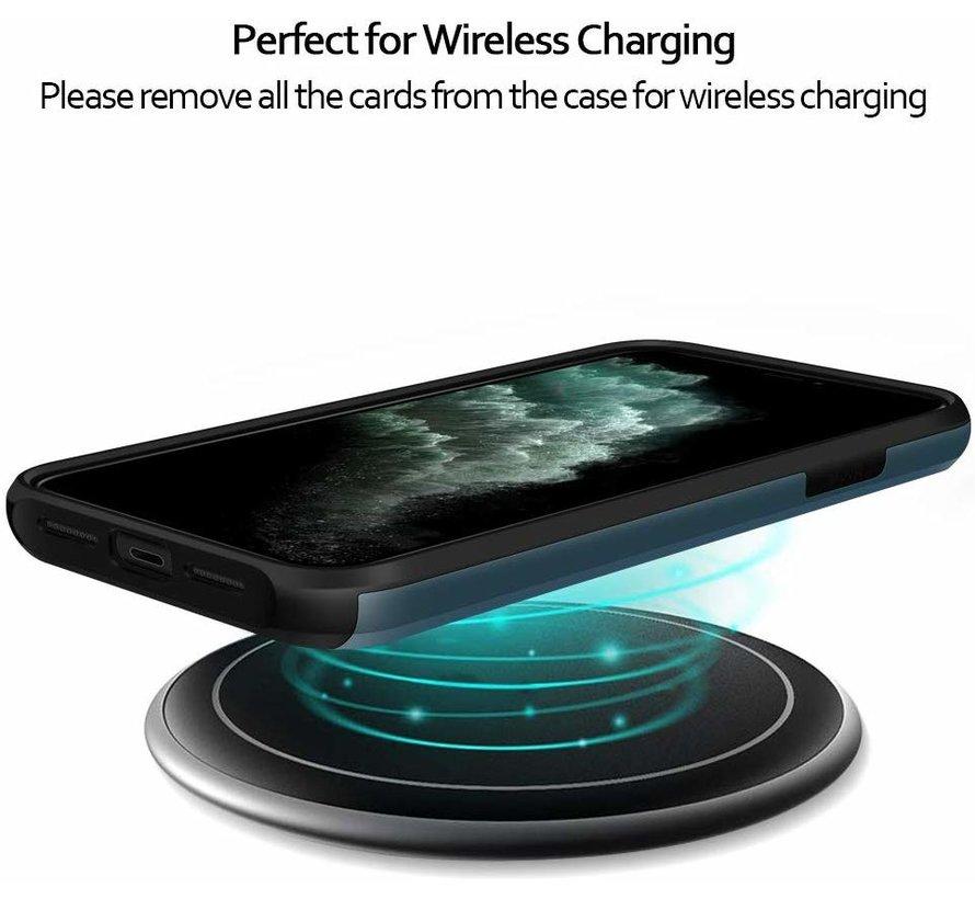 ShieldCase Kaarthouder case met slide iPhone 11 Pro Max (donkerblauw)
