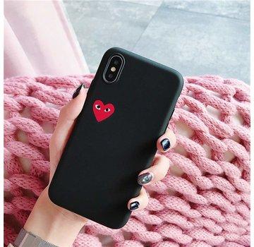 ShieldCase® Heart Eyes iPhone Xr hoesje (zwart)