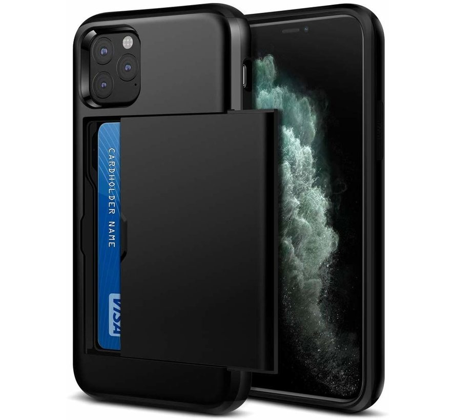 ShieldCase Kaarthouder case met slide iPhone 11 Pro Max (zwart)