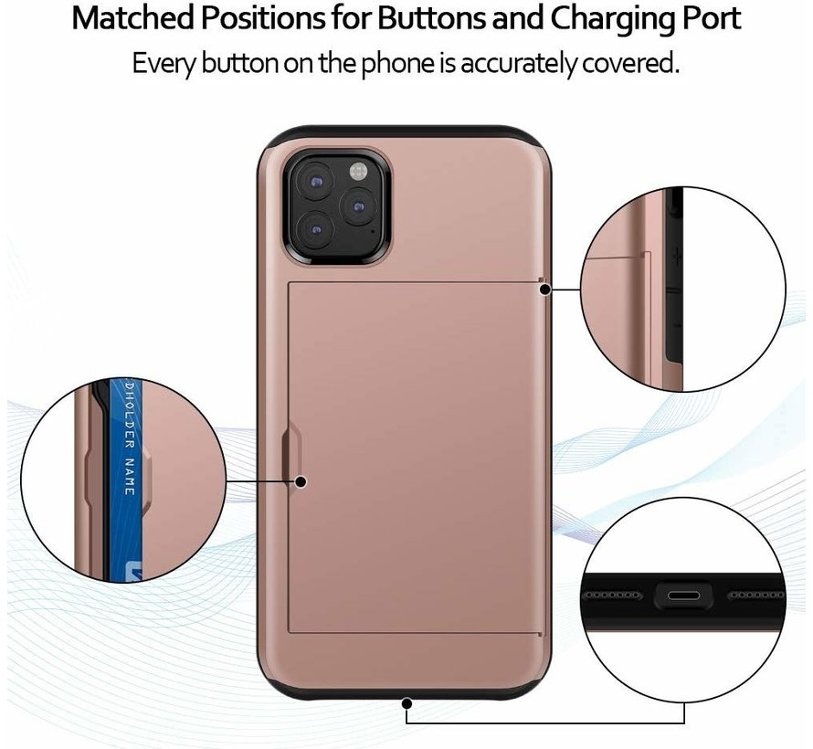 ShieldCase Kaarthouder case met slide iPhone 11 Pro Max (roze)