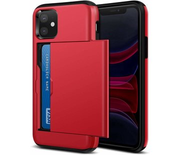 ShieldCase Kaarthouder case met slide iPhone 11 (rood)