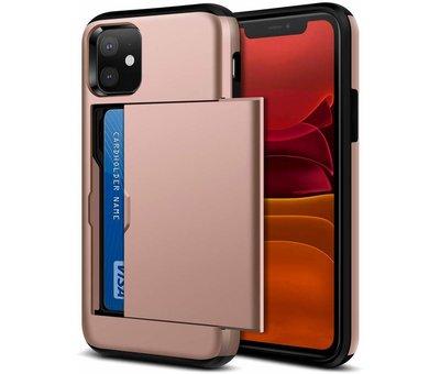 ShieldCase® ShieldCase Kaarthouder case met slide iPhone 11 (roze)