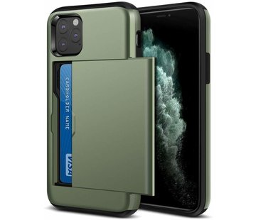 ShieldCase® Kaarthouder case met slide iPhone 11 Pro Max (groen)