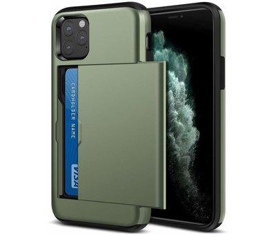 ShieldCase ShieldCase Kaarthouder case met slide iPhone 11 Pro Max (groen)
