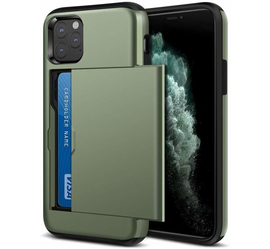 ShieldCase Kaarthouder case met slide iPhone 11 Pro Max (groen)