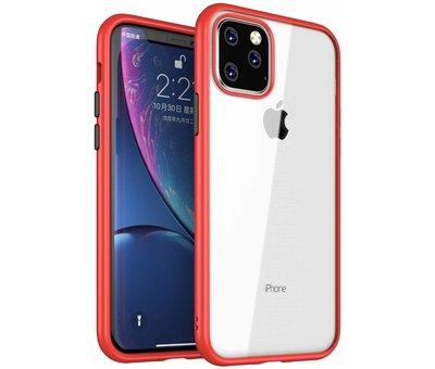 ShieldCase® ShieldCase iPhone 11 Pro Max metallic bumper case (rood)
