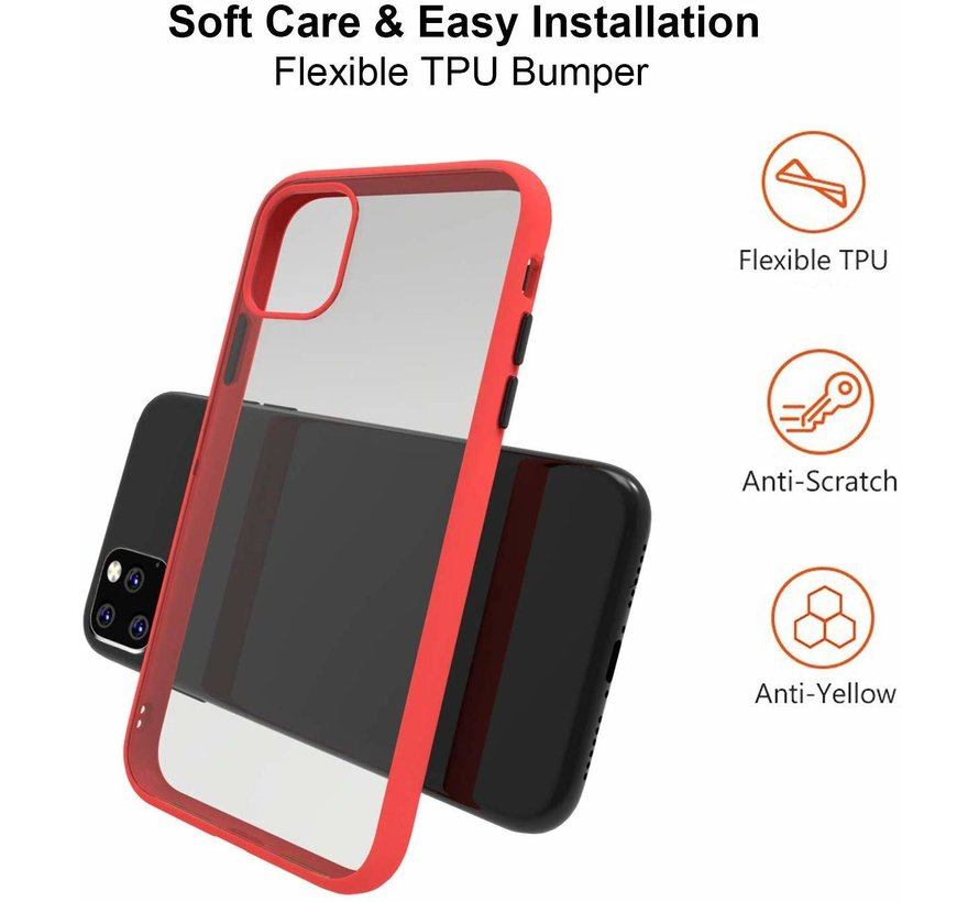 ShieldCase iPhone 11 Pro Max metallic bumper case (rood)
