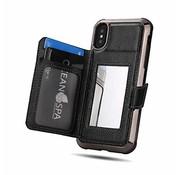 ShieldCase® iPhone Xr wallet case met spiegel (zwart)