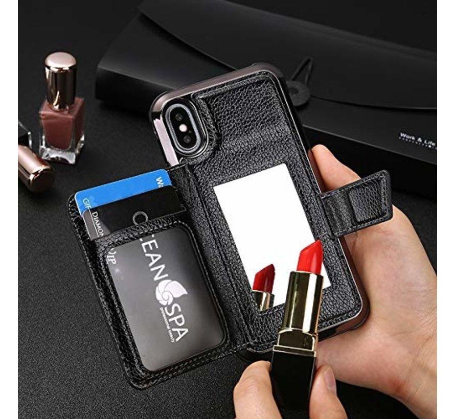 ShieldCase Wallet met spiegel Case  iPhone Xr (zwart)