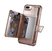 ShieldCase Wallet Case met spiegel iPhone Xr (Rose gold)