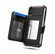 ShieldCase® Wallet Case met spiegel iPhone X / Xs (Zwart)