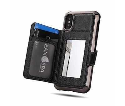 ShieldCase ShieldCase Wallet met spiegel Case  iPhone X / Xs (Zwart)