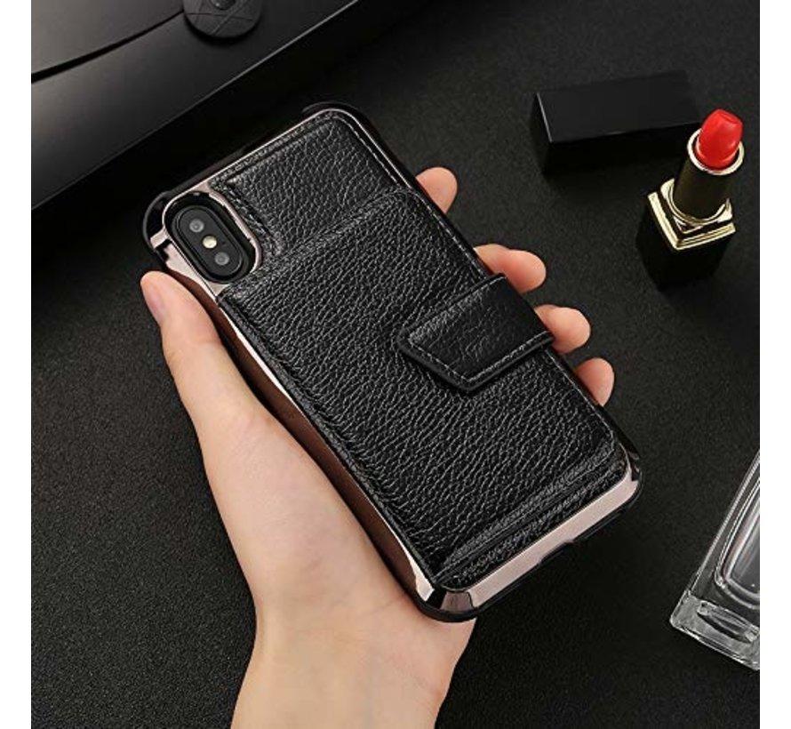 ShieldCase Wallet met spiegel Case  iPhone X / Xs (Zwart)