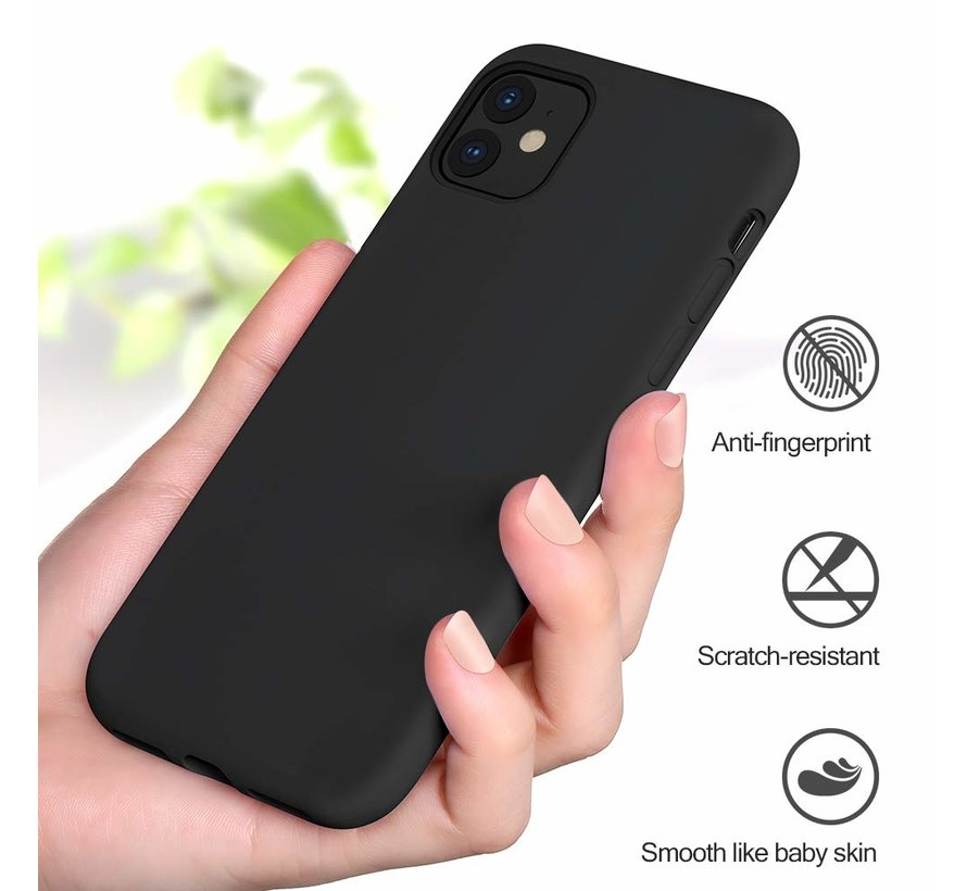 ShieldCase Silicone case iPhone 11 (zwart)
