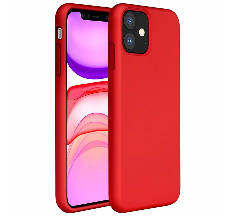 ShieldCase Silicone case iPhone 11 (rood)