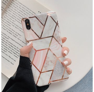 ShieldCase® iPhone Xr hoesje marmeren patroon