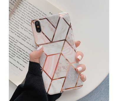 ShieldCase ShieldCase Marmeren patroon iPhone Xr  hoesje