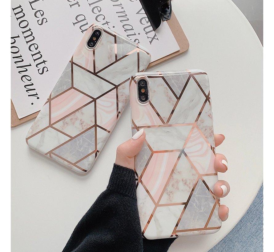 ShieldCase iPhone Xr hoesje marmeren patroon