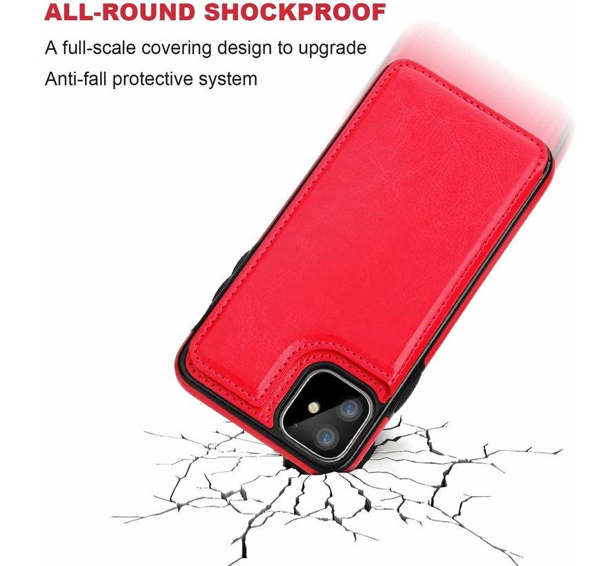 ShieldCase Wallet Case  iPhone 11 (rood)