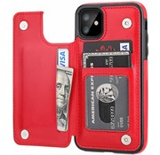 ShieldCase® iPhone 11 wallet case (rood)