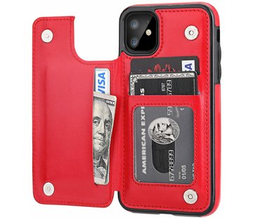 ShieldCase Wallet Case iPhone 11 (rood)