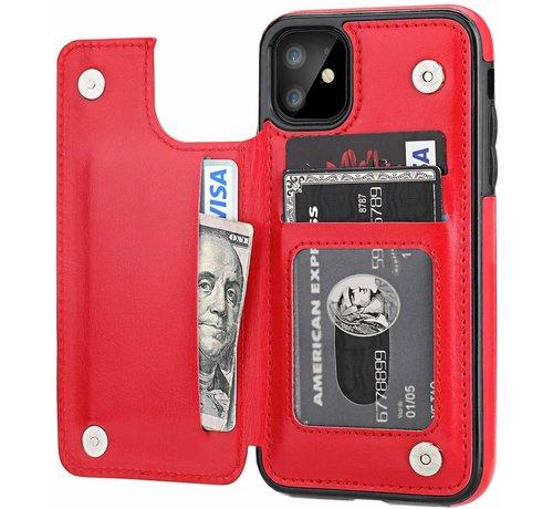 ShieldCase ShieldCase Wallet Case  iPhone 11 (rood)