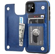 ShieldCase® iPhone 11 wallet case (blauw)