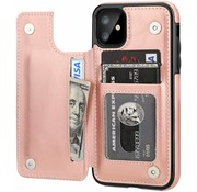 ShieldCase® iPhone 11 wallet case (roze)