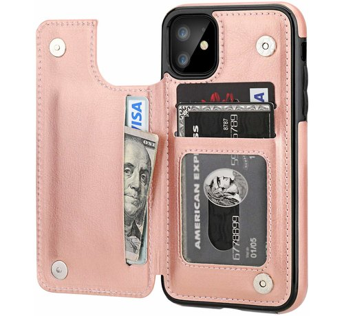 ShieldCase ShieldCase Wallet Case  iPhone 11 (roze)