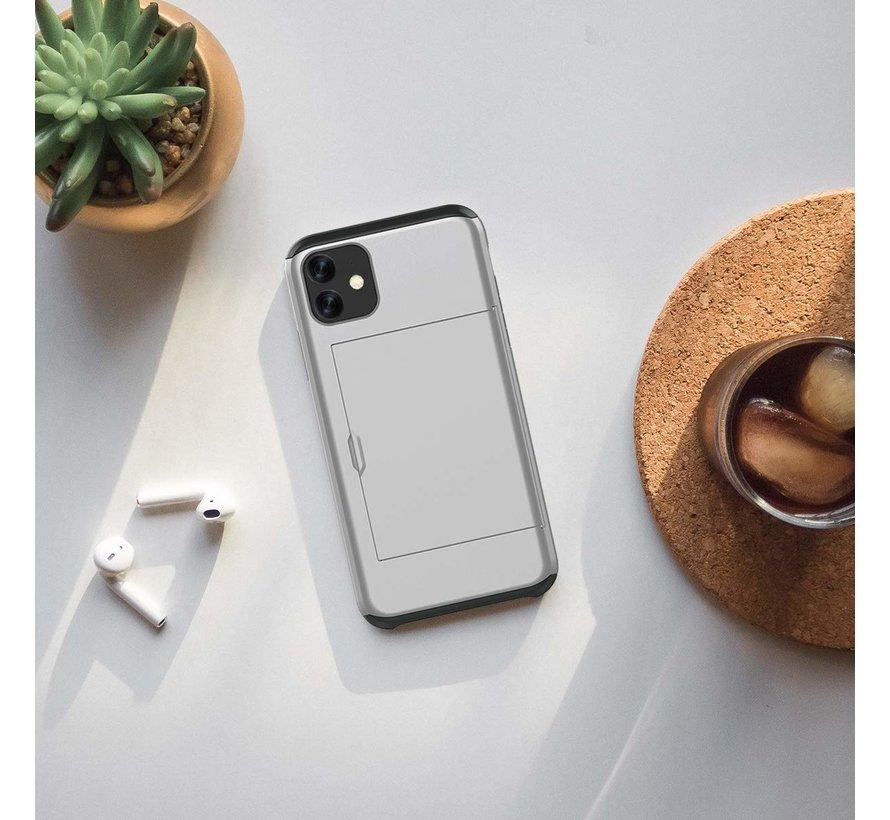 ShieldCase Kaarthouder case met slide iPhone 11 (zilver)