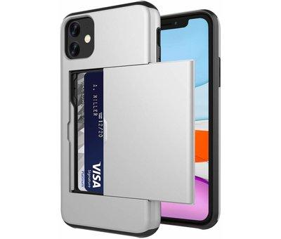 ShieldCase® ShieldCase Kaarthouder case met slide iPhone 11 (zilver)